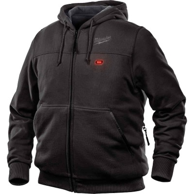 Milwaukee M12 Large Black Men's Heated Full Zip Hooded Sweatshirt