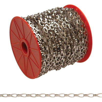 Campbell #3 82 Ft. Chrome-Plated Low-Carbon Steel Coil Chain