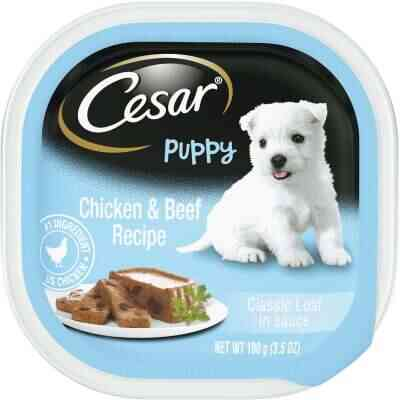 Cesar Classic Loaf Chicken & Beef Wet Puppy Food, 3.5 Oz.