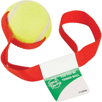 Smart Savers 6 Cm. Dia. Ball w/Tug Dog Toy