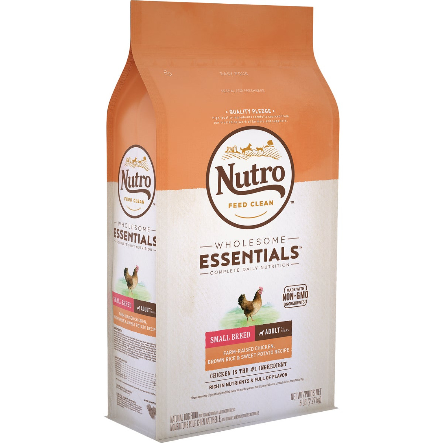 Nutro Wholesome Essentials 5 Lb. Chicken, Brown Rice, & Sweet Potato Small Breed Adult Dry Dog Food Image 1