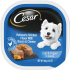 Cesar Loaf & Topper Rotisserie Chicken with Bacon & Cheese Adult Wet Dog Food, 3.5 Oz. Image 1
