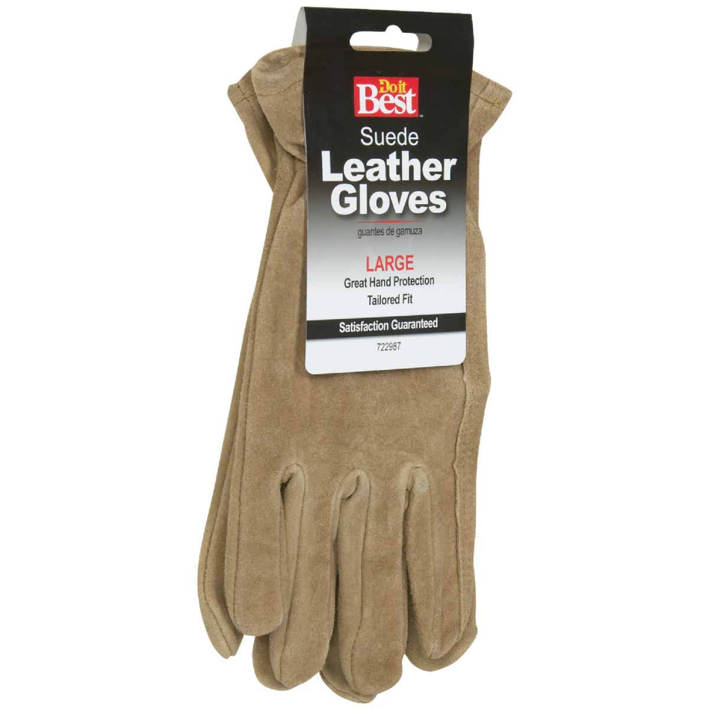 Do it Best Men's Large Suede Leather Work Glove Image 2