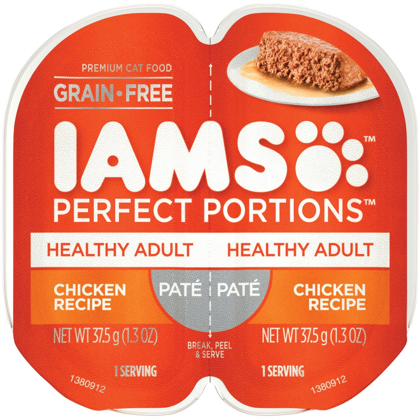 Iams Perfect Portions Healthy Adult 2.6 Oz. Chicken Flavor Adult Wet Cat Food Image 1