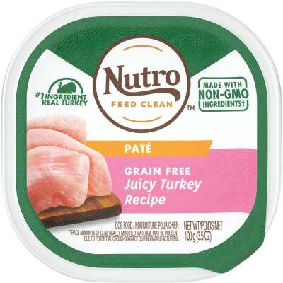 Nutro Grain Free Juicy Turkey Adult Pate Dog Food, 3.5 Oz.