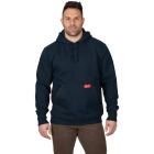 Milwaukee Small Navy Blue Heavy-Duty Pullover Hooded Sweatshirt Image 2