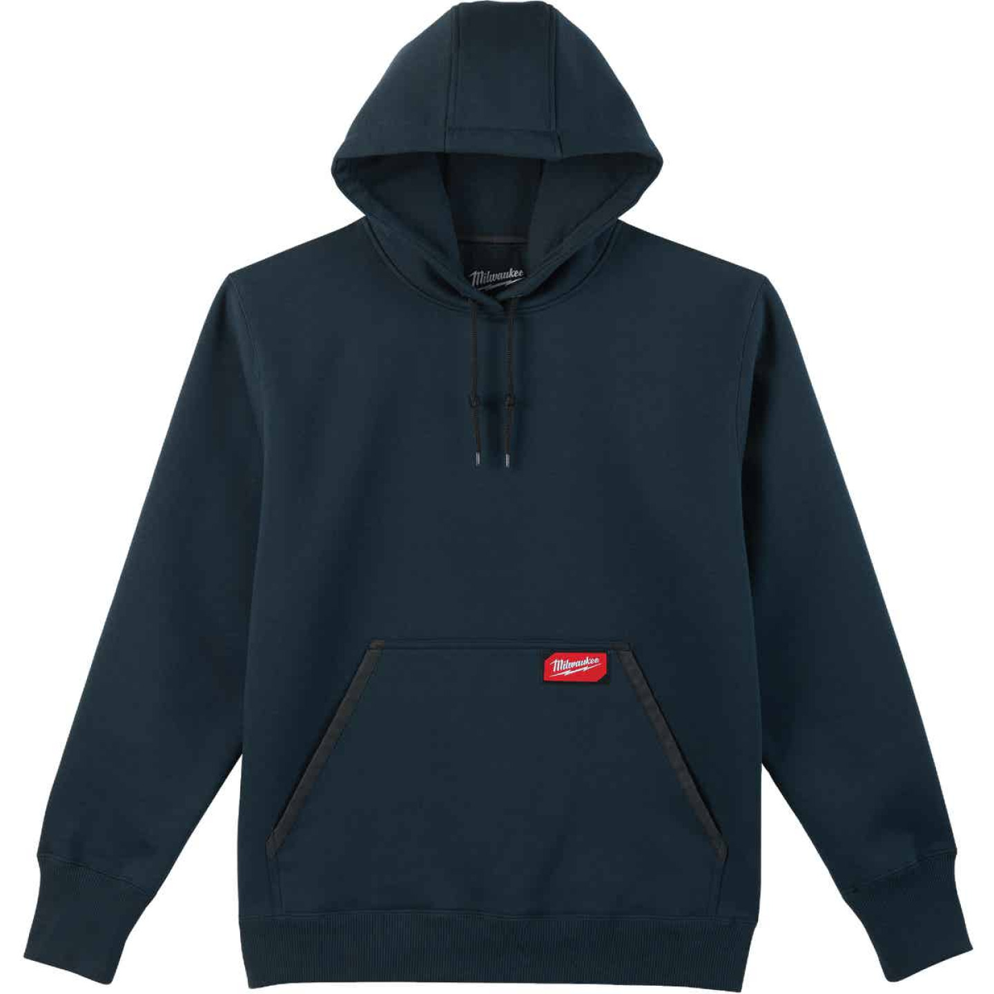 Milwaukee Small Navy Blue Heavy-Duty Pullover Hooded Sweatshirt Image 1