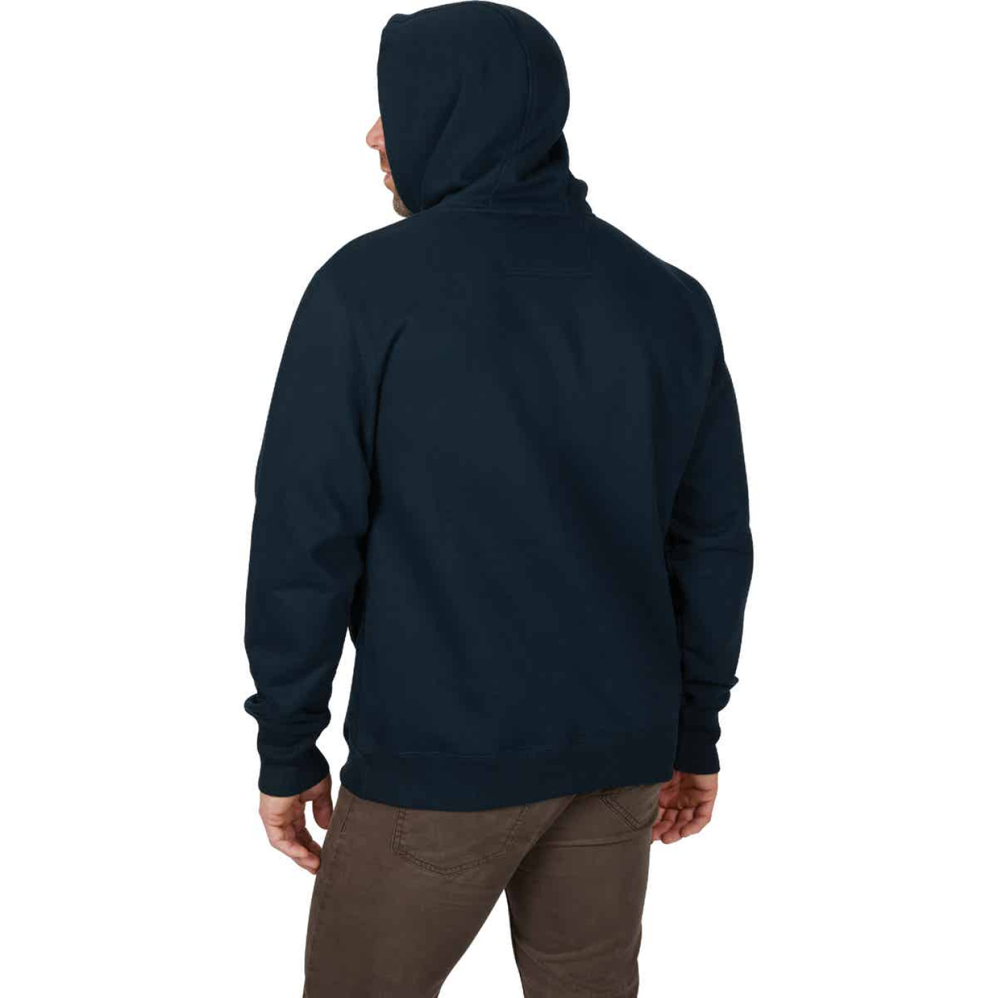Milwaukee Small Navy Blue Heavy-Duty Pullover Hooded Sweatshirt Image 3