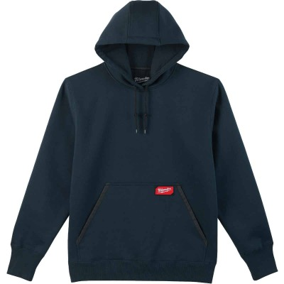 Milwaukee XL Navy Blue Heavy-Duty Pullover Hooded Sweatshirt