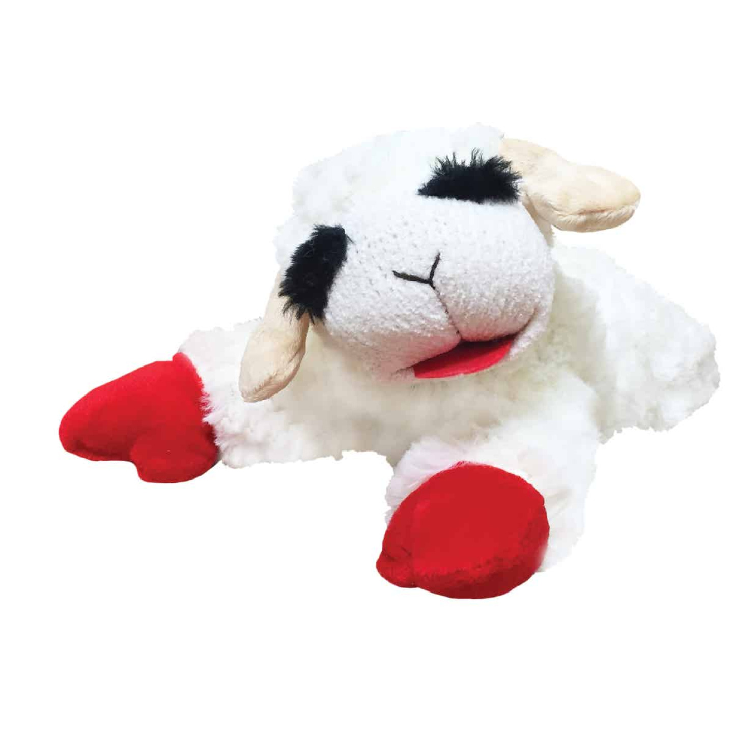 Multipet 10.5 In. Plush Lamb Chop Dog Toy Image 1