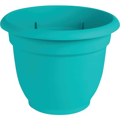 Bloem Ariana 13.75 In. H. x 16 In. Dia. Plastic Self Watering Bermuda Teal Planter