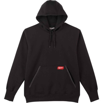 Milwaukee Medium Black Heavy-Duty Pullover Hooded Sweatshirt
