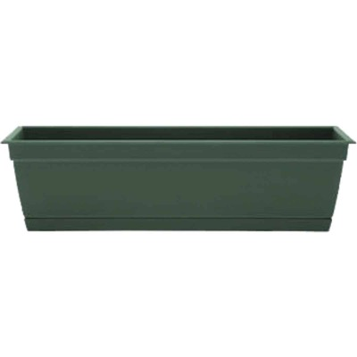 Bloem Ocean Series Dayton 24 In. W. x 6.69 In. H. x 7.75 In. D. Recycled Ocean Plastic Turtle Green Window Box