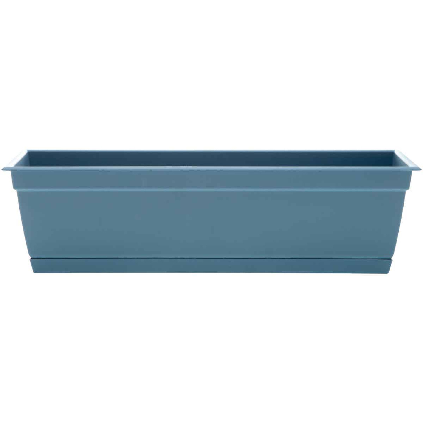 Bloem Ocean Series Dayton 24 In. W. x 6.69 In. H. x 7.75 In. D. Recycled Ocean Plastic Ocean Blue Window Box Image 1