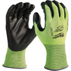 Milwaukee Men's XL Cut Level 4 High Vis Nitrile Dipped Glove Image 1