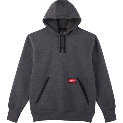 Milwaukee Medium Gray Heavy-Duty Pullover Hooded Sweatshirt