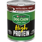 Purina Dog Chow Beef Adult Flavor High Protein Wet Dog Food, 13 Oz. Image 1