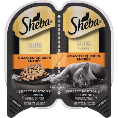 Sheba Perfect Portions Cuts in Gravy 2.6 Oz. Roasted Chicken Adult Wet Cat Food