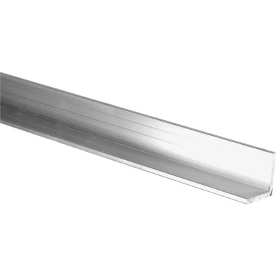 HILLMAN Steelworks Mill 1 In. x 4 Ft., 1/8 In. Aluminum Solid Angle