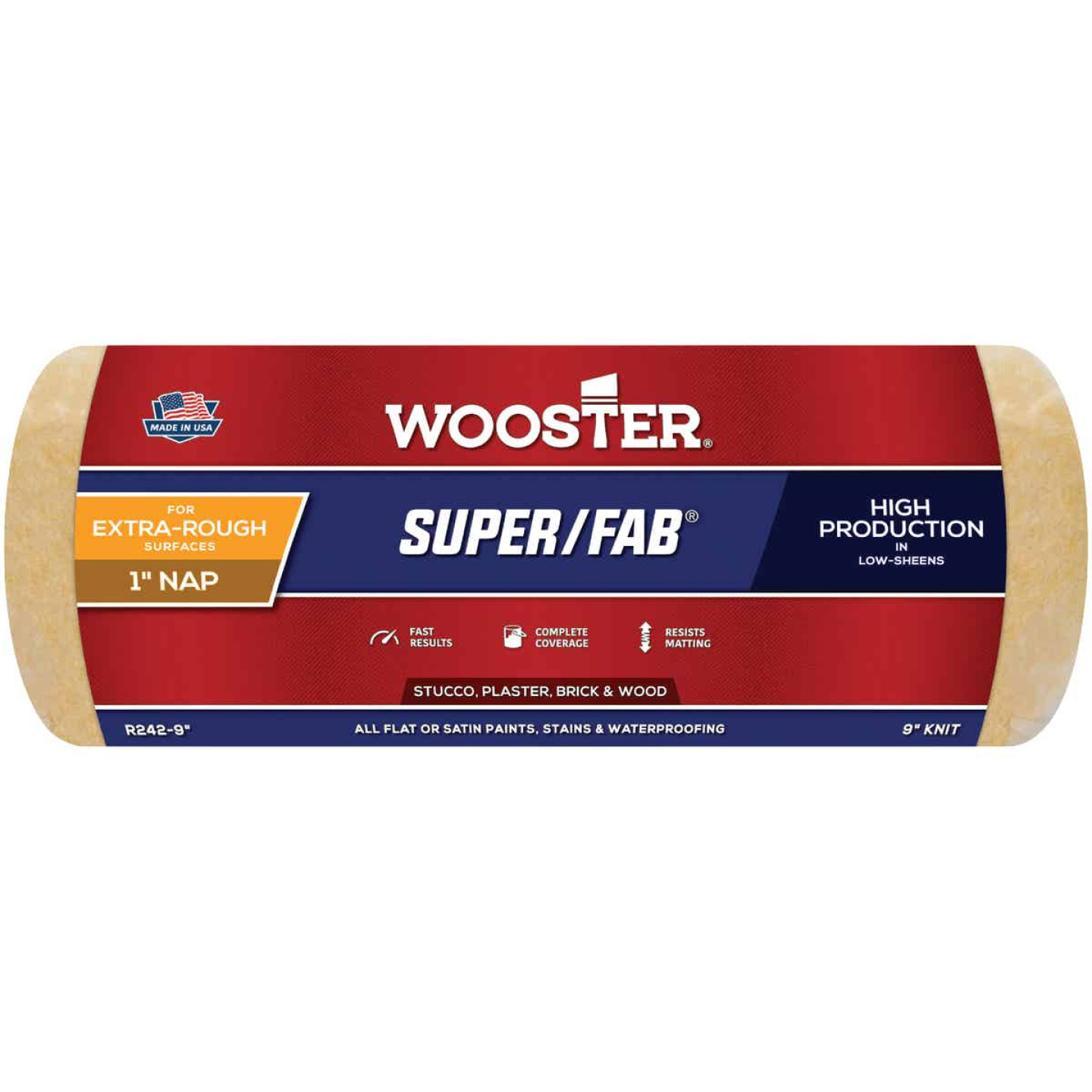 Wooster Super/Fab 9 In. x 1 In. Knit Fabric Roller Cover Image 1