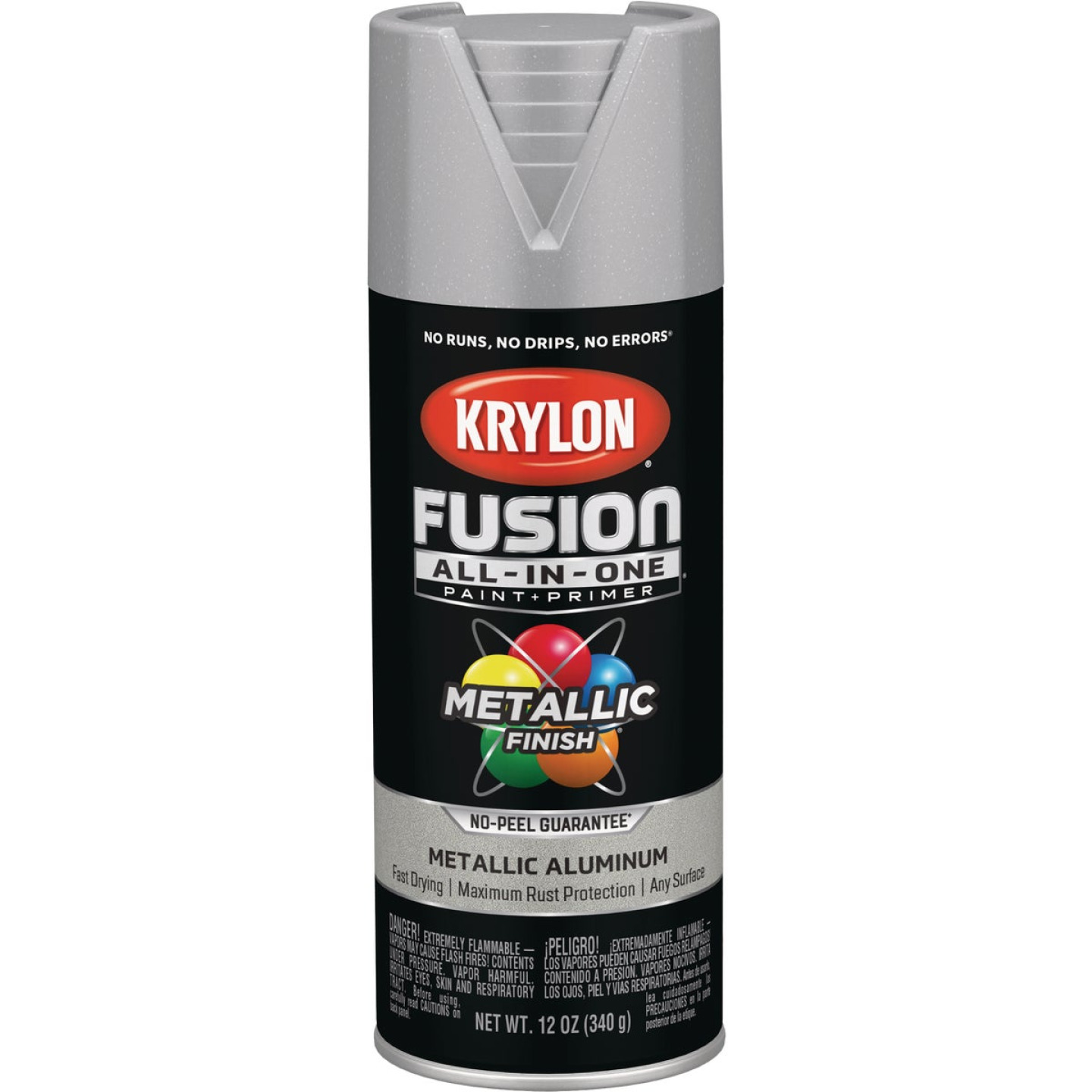 Krylon Fusion All-In-One Metallic Spray Paint & Primer, Aluminum Image 1