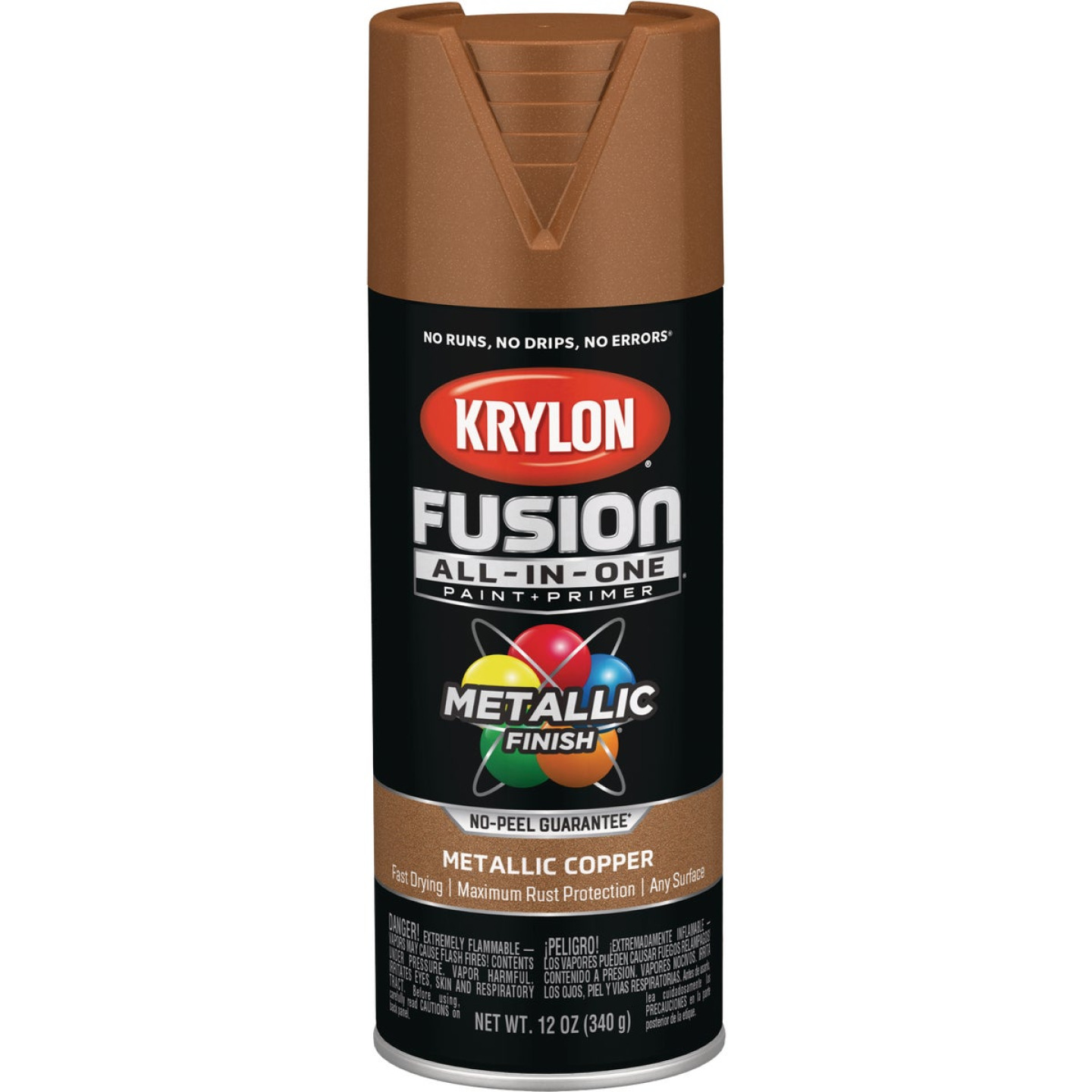 Krylon Fusion All-In-One Metallic Spray Paint & Primer, Copper Image 1
