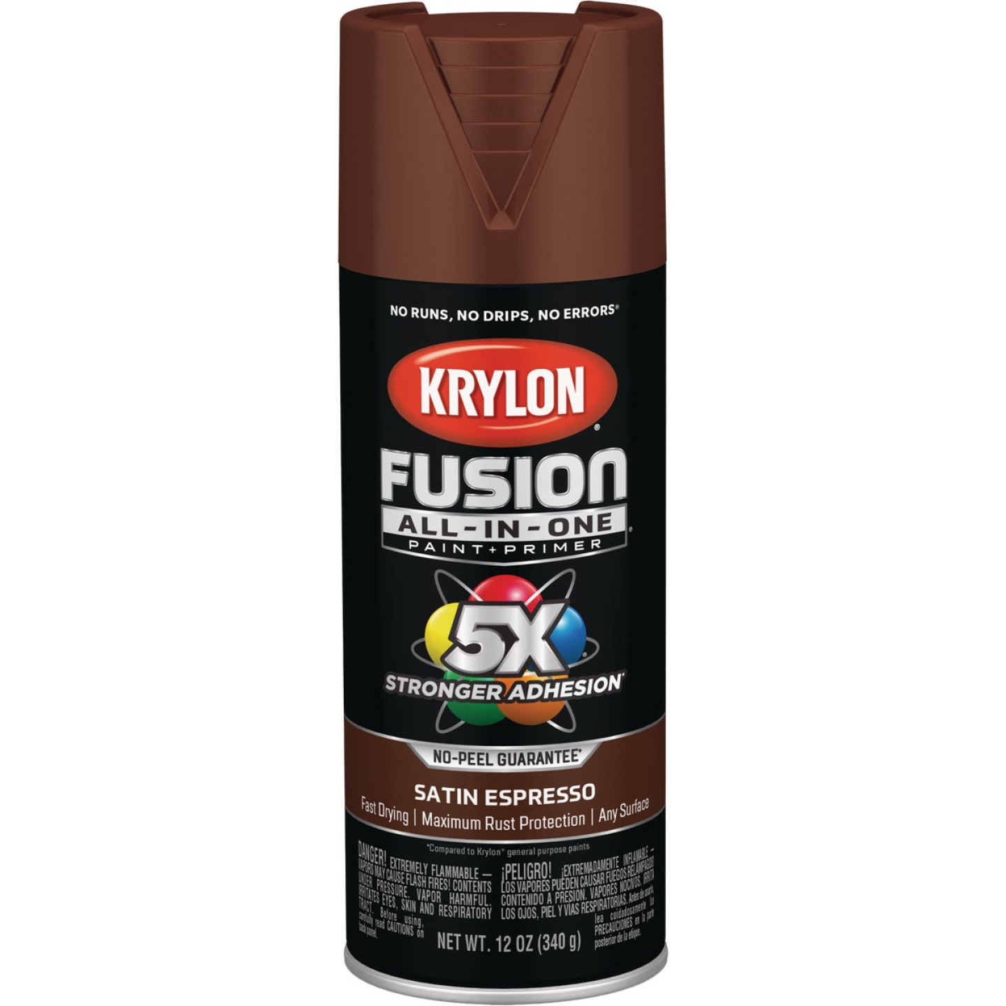 Krylon Fusion All-In-One Satin Spray Paint & Primer, Espresso Image 1