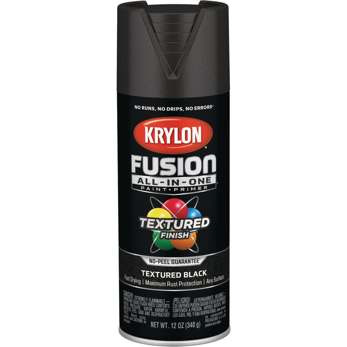 Krylon Fusion All-In-One Textured Spray Paint & Primer, Black Image 1