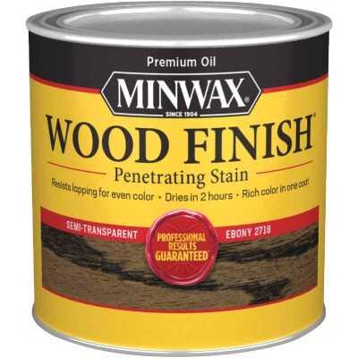 Minwax Wood Finish Penetrating Stain, Ebony, 1/2 Pt.