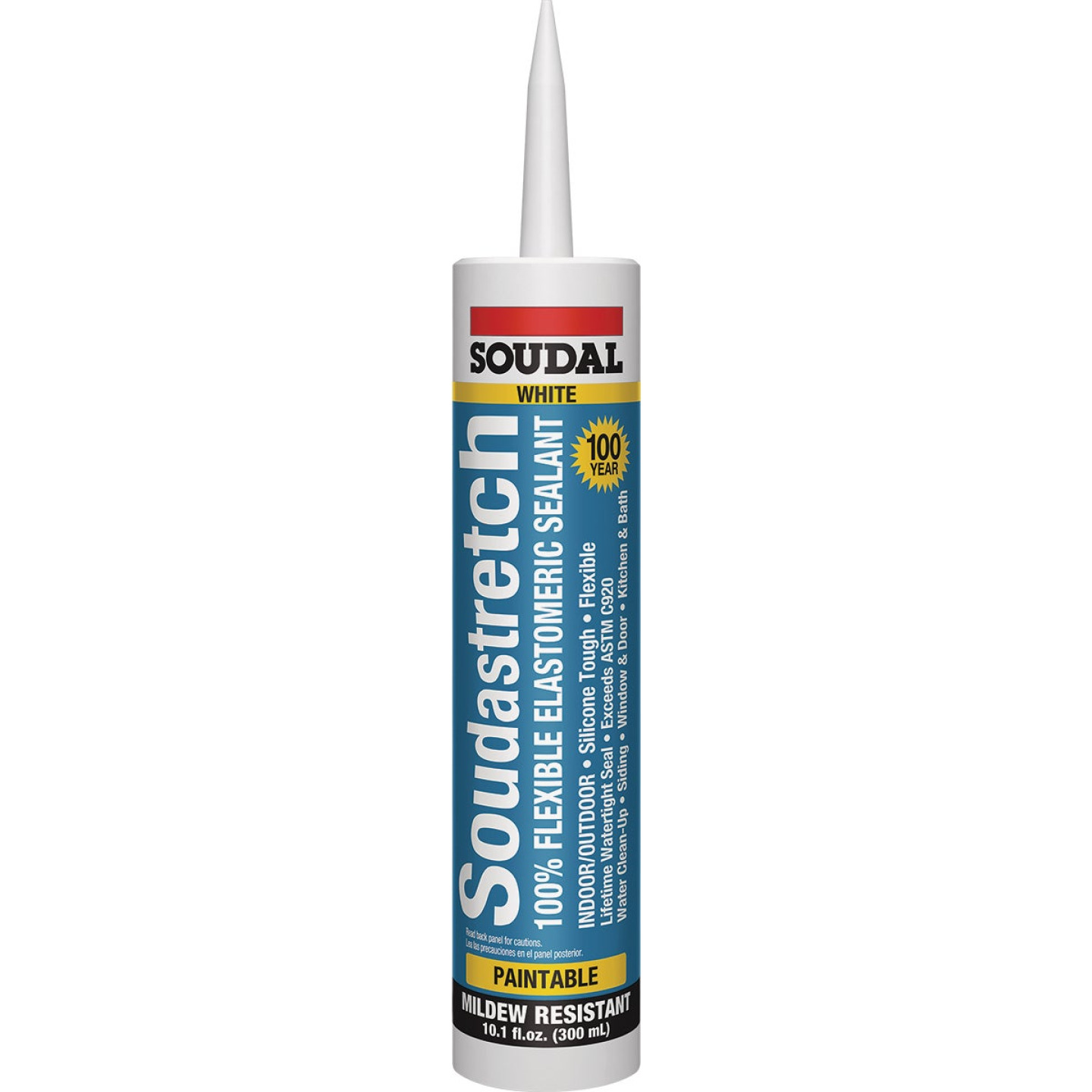 Soudastretch 10.1 Oz. Acrylic Elastomeric Caulk, White Image 1