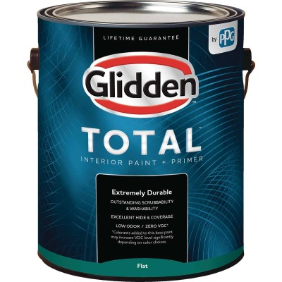 Glidden Total Interior Paint + Primer Flat Midtone Base 1 Gallon