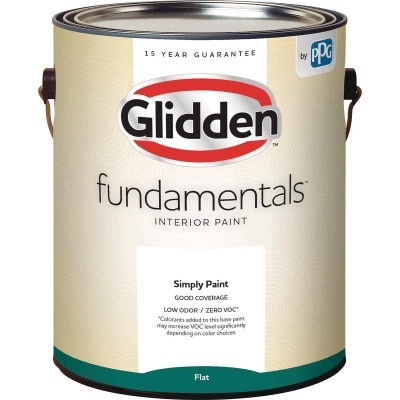 Glidden Fundamentals Interior Paint Flat Midtone Base 1 Gallon
