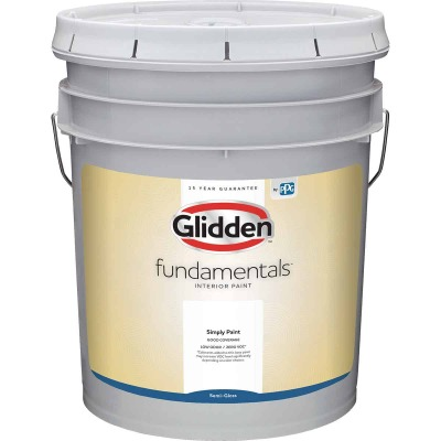 Glidden Fundamentals Interior Paint Semi-Gloss White & Pastel Base 5 Gallon