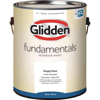 Glidden Fundamentals Interior Paint Semi-Gloss Midtone Base 1 Gallon