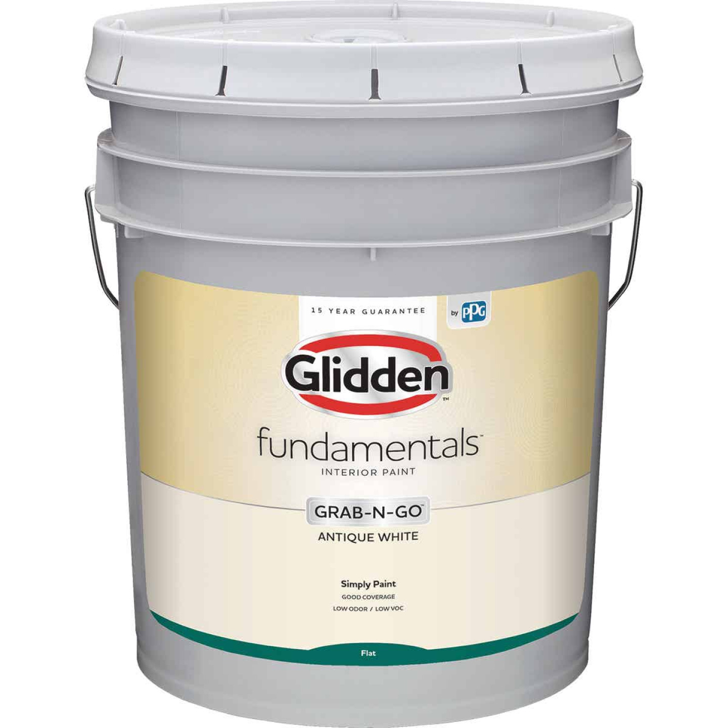 Glidden Fundamentals Grab-N-Go Antique White Flat 5 Gallon Image 1