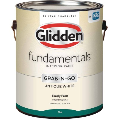 Glidden Fundamentals Grab-N-Go Antique White Flat 1 Gallon