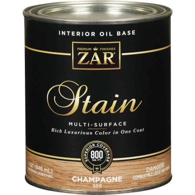 Zar 1 Qt. Champagne Oil-Based Multi-Surface Interior Stain