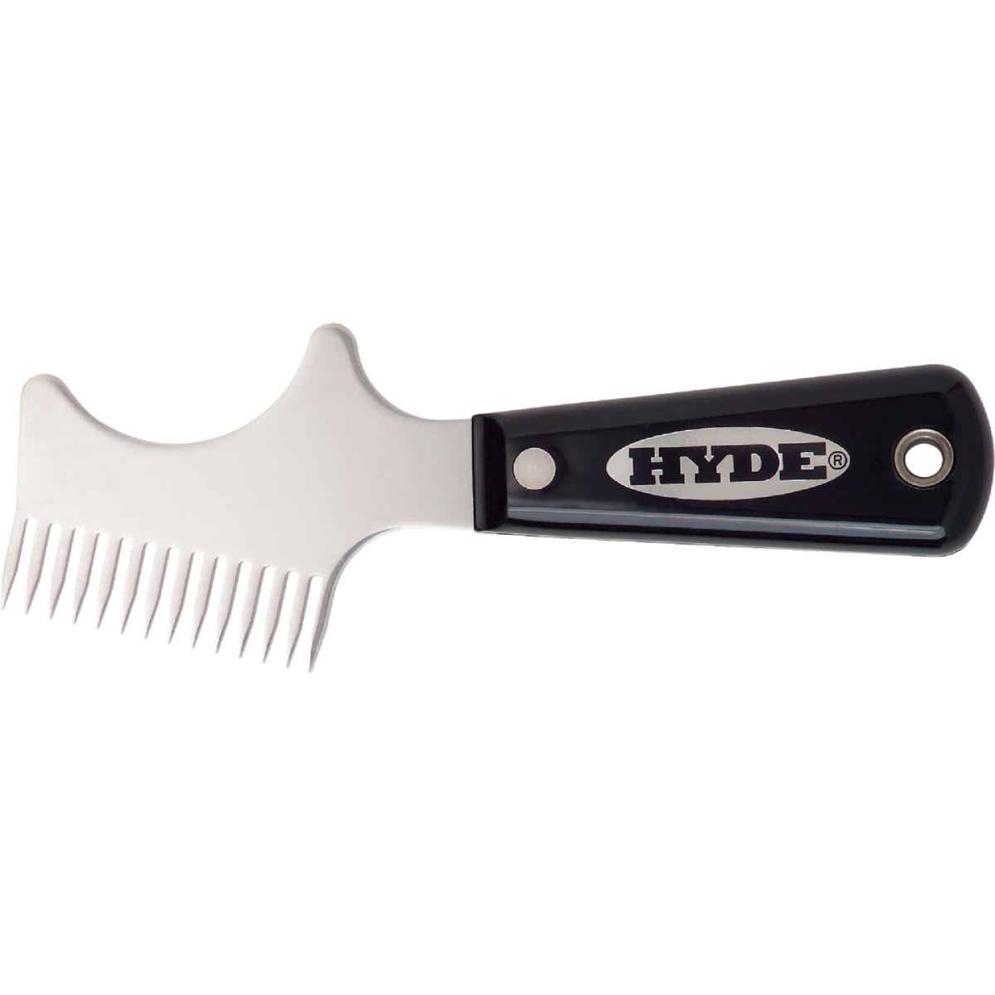Hyde Black & Silver Stainless Steel Brush & Roller Cleaner Image 1