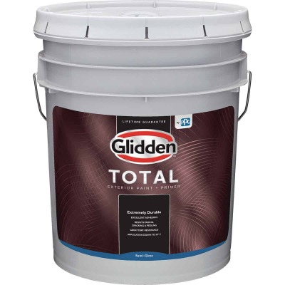 Glidden Total Exterior Paint + Primer Semi-Gloss Midtone Base 5 Gallon