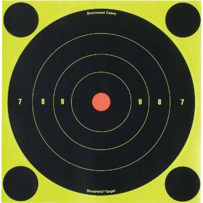 Birchwood Casey Shoot-N-C 8-Inch Sighting Adhesive Paper Bulls-Eye Target
