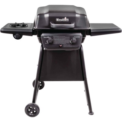 Char-Broil 2-Burner Black 20,000-BTU LP Gas Grill with 8,000-BTU Side -Burner